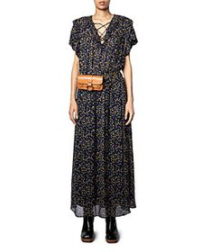 Zadig & Voltaire - Rainy Printed Lace Up Dress