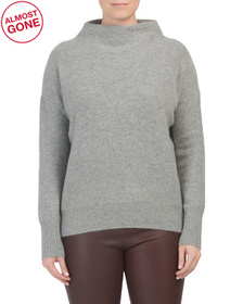 Cashmere Funnel Neck Pullover Sweater