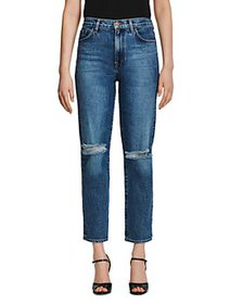 J Brand - Jules Ripped Straight Jeans in Finesse D