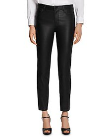 J Brand - Adele Leather Straight Jeans in Black