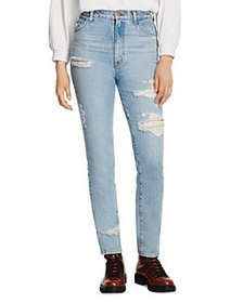J Brand - 1212 Runway Ripped Slim Jeans in Archive