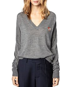 Zadig & Voltaire - V Neck Patch Logo Sweater