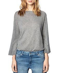 Zadig & Voltaire - Leather Patch Cashmere Sweater