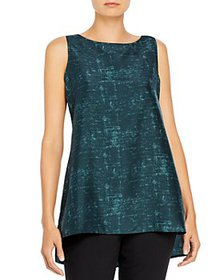 Eileen Fisher - Bateau Neck Silk Shell Top