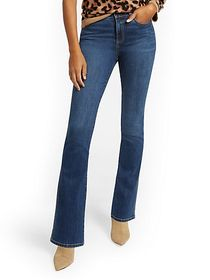 High-Waisted Curvy Barely Bootcut Jeans - Brillian