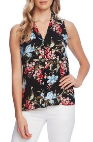 Vince Camuto Sleeveless Wildflower Floral Blouse