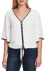 Vince Camuto Bell Sleeve Tie Front Blouse