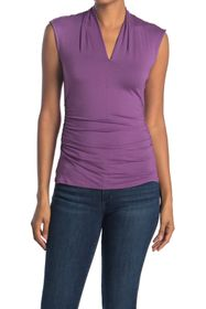 Vince Camuto Sleeveless Pleated V-Neck Top