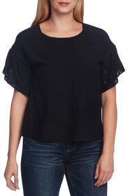 Vince Camuto Drop Shoulder Tulip Sleeve Blouse