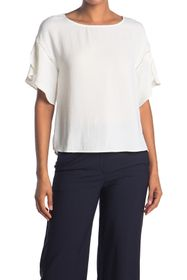 Vince Camuto Tulip Sleeve Cut-Out Blouse