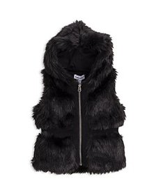 Splendid - Girls' Hooded Faux Fur Vest - Baby