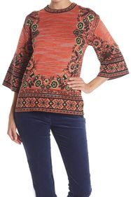 M Missoni Patterned 3/4 Sleeve T-Shirt