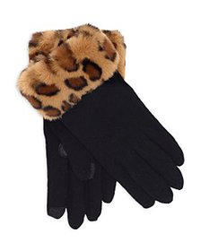 Echo - Faux Fur Trimmed Touch Gloves