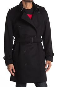 Burberry Kensington Double Breasted Belted Coat