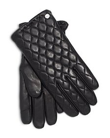 Echo - Quilted Leather & Wool Tech Gloves