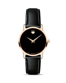 Movado - Museum Classic Rose Gold-Tone Case Watch,