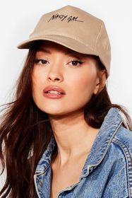 Nasty Gal Khaki On Brand Nasty Gal Cap