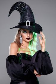 Nasty Gal Black Baddest Witch in Town Star Buckle