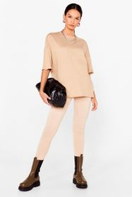 Nasty Gal Sand And Relax Oversized Tee and Legging