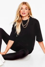 Nasty Gal Black And Relax Oversized Tee and Leggin