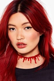 Nasty Gal Red Such a Drip Choker