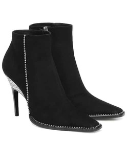 Jimmy Choo Brecken 100 embellished suede ankle boo