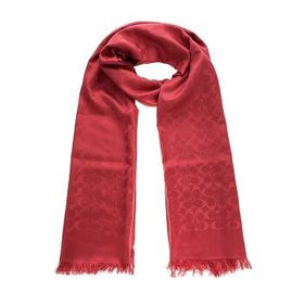 Coach Coach Ladies Signature Stole In Silk And Cot