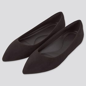 Women Comfort Feel Touch Pointed Shoes, Black, Med