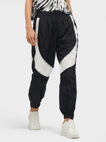 Donna Karan RELAXED FIT COLORBLOCKED TRACK PANT
