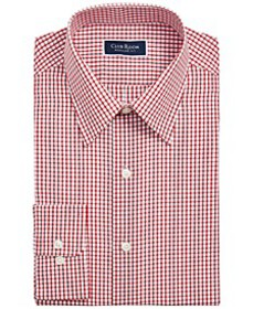 Men's Classic/Regular-Fit Check Dress Shirt, Creat