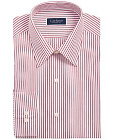 Men's Classic/Regular-Fit Stripe Dress Shirt, Crea