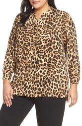 Vince Camuto Leopard Print Tunic Top