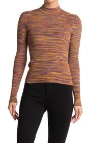 Ronny Kobo Octavia Mock Neck Space Dyed Top