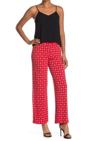 Vince Camuto Textured Foulard Print Knit Straight