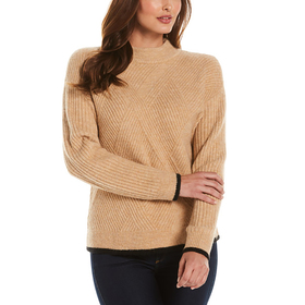 Womens Rafaella® Long Sleeve Mixed Stitch Sweater