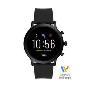 Fossil Gen 5 Carlyle HR Smartwatch - Black Silicon