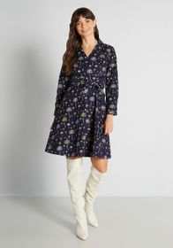 Circus Delicate Drifters Wrap Dress in Navy