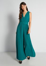 ModCloth ModCloth Discotheque Darling Jumpsuit Gre