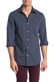 Perry Ellis Slim Fit Long Sleeve Printed Shirt