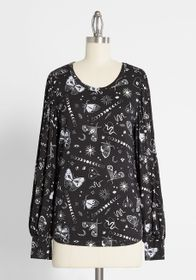 ModCloth ModCloth Beyond Basic Long Sleeve Top in