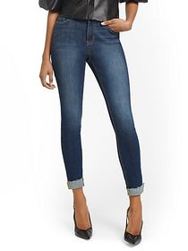 Lexi Mid-Rise Super-Skinny Ankle Jeans - Foxy Blue