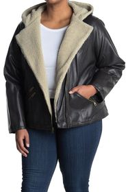 Levi's Faux Leather & Shearling Lined Moto Jacket