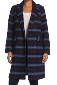 BCBGeneration Missy Double Breasted Plaid Coat