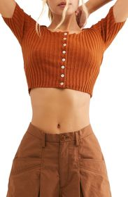 Free People Little Cutie Ribbed Crop Top