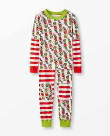 Hanna Andersson Dr. Seuss Grinch Long John Pajamas
