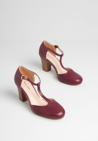 Timeless to a T Heel in Burgundy