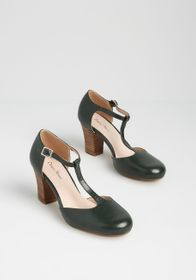 Timeless to a T Heel in Green