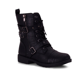 Womens Wanted Private Ankle Combat Boots