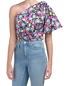 Anastasia One Shoulder Floral Top