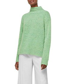 Whistles - Erica Flecked Funnel Neck Knit Top